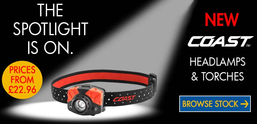 New Coast Head Lamps and Torches available.