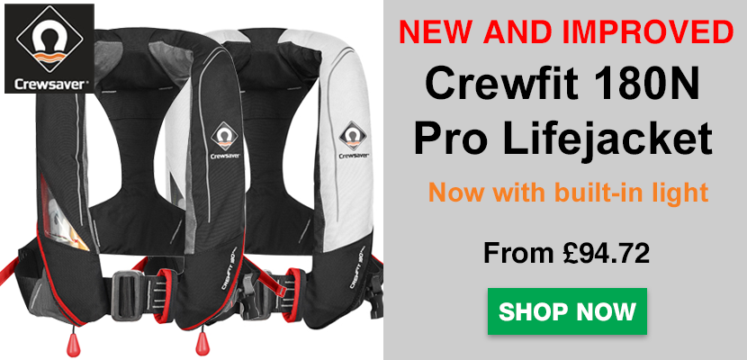 NEW Crewsaver Crewfit 180N Pro Lifejacket available - Click to shop!