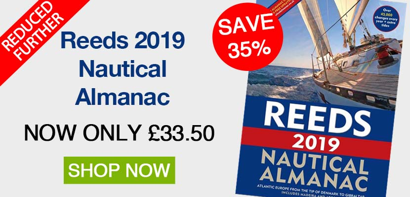 Reeds Nautical Almanac 2019 is now in stock - Click to shop!