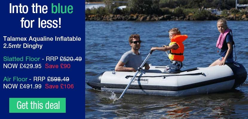 Talamex Aqualine Inflatable 2.5mtr Dinghies in Slatted Floor and Air Floor available now! From 429.95...