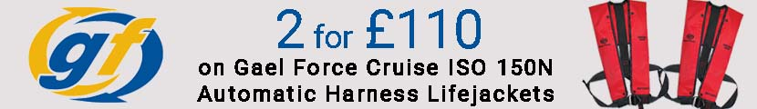 2 for £100 on Gael Force Cruise ISO 150N Automatic Lifejackets