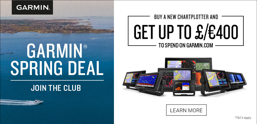 Garmin Spring Deals - Get up to £400 to spend on Garmin.com when you buy a new Chartplotter!