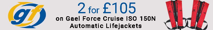 2 for £105 on Gael Force Cruise ISO 150N Automatic Lifejackets