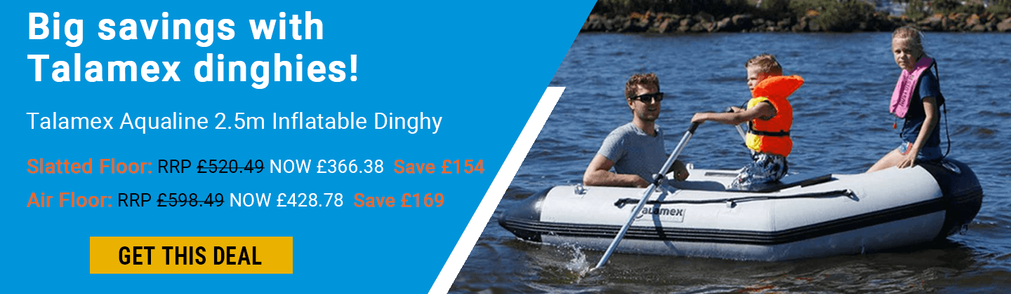 Get great savings on these Talamex Dinghies! Save up to 169 pounds.