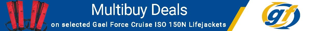 Multibuy Deals on selected Gael Force Cruise ISO 150N Lifejackets!
