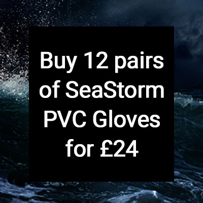 Buy 12 pairs of SeaStorm PVC Gloves for £24