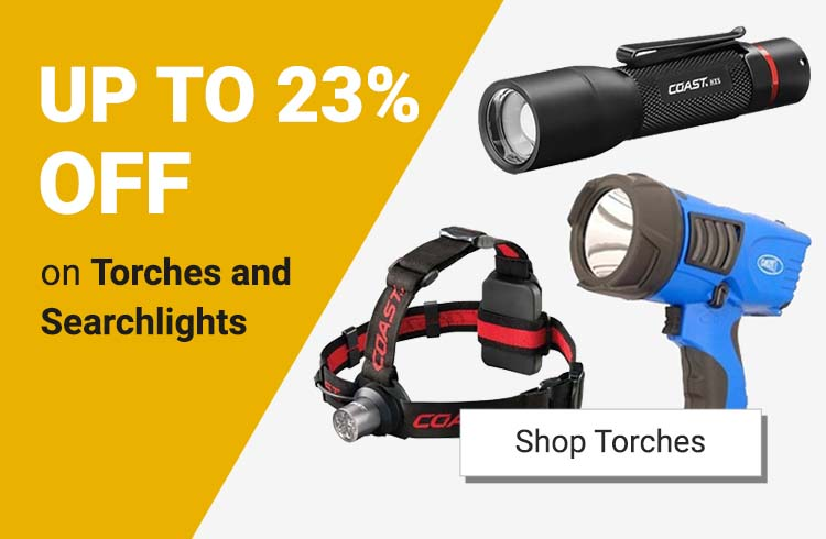 Up to 23% off on Torches and Searchlights!