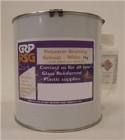 GRP RSG Polyester Brushing Gelcoat - 1kg White