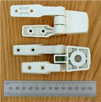 Compact Toilet Hinge Set by Jabsco