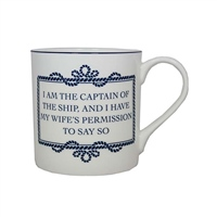 "Nauticalia ""I am the Captain"" Mug"