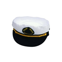 Nauticalia Captain's White Cap