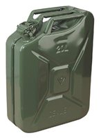 Kennedy Jerry Can Metal Green 20Ltr