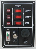 Trem 3 Switch Electrical Panel (with Horn Switch)