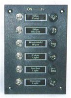 Trem 6 Switch Electrical Panel with Fuse Block