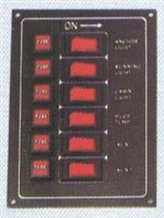 Trem Electrical Panel plus 6 Switches - 10 Amp