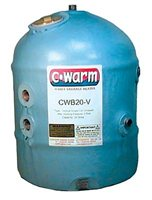 C-Warm 29 litre Vertical Water Storage Heater Twin Coil