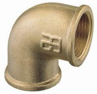 Gael Force 90 Degree Bend - Brass Elbow