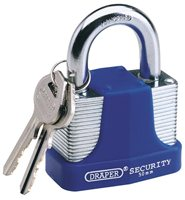 Draper 50mm Laminated Steel Padlock
