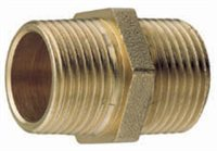 Brass Equal Hex Nipple - Taper Male by Gael Force