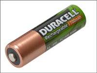 Duracell AA Cell Rechargeable Batteries 2450mAh Pack of 4