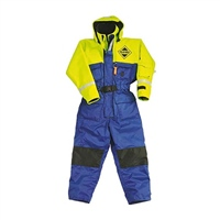 Fladen Scandia 1-Piece Flotation Suit (Options: Small - Blue/Yellow, Medium - Blue/Yellow, Large - Blue/Yellow, XL - Blue/Yellow, XXL - Blue/Yellow)