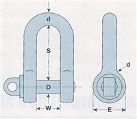 Gael Force 6.5T Blue Screw Pin Dee Shackle