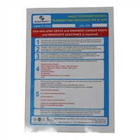 Gael Force Distress Call Instruction Card (GMDSS)