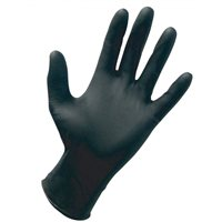 MSL Hand Safe GN80 Black Nitrile Powder Free Gloves (C1)