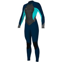 O'Neill Women's Bahia 3/2mm Wetsuit - Slate/Light Aqua