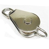 Gael Force S/S Single Sheave Block with Swivel Oval Eye & Becket B/L
