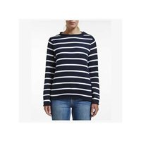 Holebrook Ladies Svea Crew Knit - Navy/White