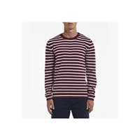 Holebrook Men's Kalle Crew Sweater - Maroon/White