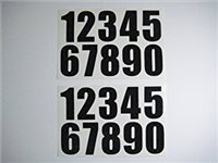 "Gael Force 2"" Self Adhesive Boat Stickers - Numbers"