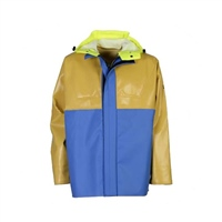 Guy Cotten ISOPRO Jacket with Hi-Viz Hood - Blue/Yellow