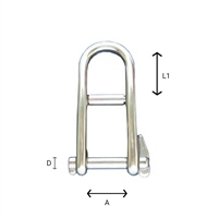 Gael Force Stainless Steel Key Pin Dee Shackle
