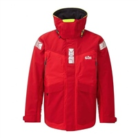 Gill Men's OS2 Offshore/Coastal Jacket (Options: Small / Red, Medium / Red, Large / Red, XLarge / Red, XXLarge / Red)