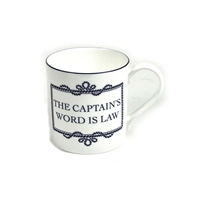 "Nauticalia ""The Captain's Word is Law"" Mug"