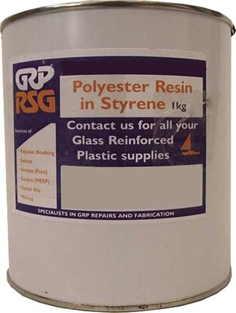 GRP RSG Glassfibre Polyester Resin - 1kg  - Click to view a larger image