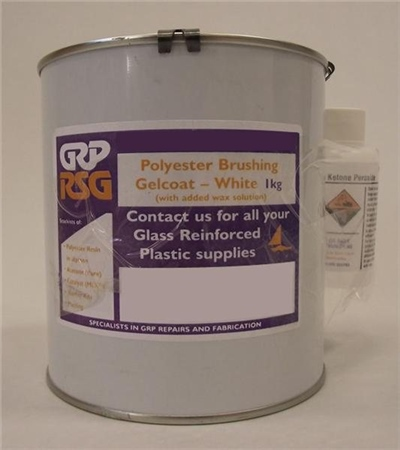 GRP RSG Polyester Brushing Gelcoat - 1kg White  - Click to view a larger image