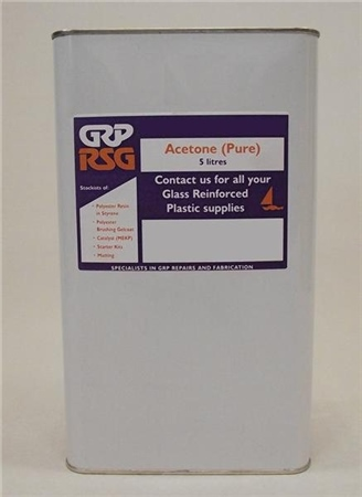 GRP RSG Pure Acetone 5ltr (C2)  - Click to view a larger image