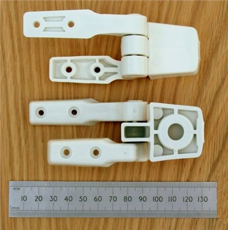 Jabsco Compact Toilet Hinge Set  - Click to view a larger image