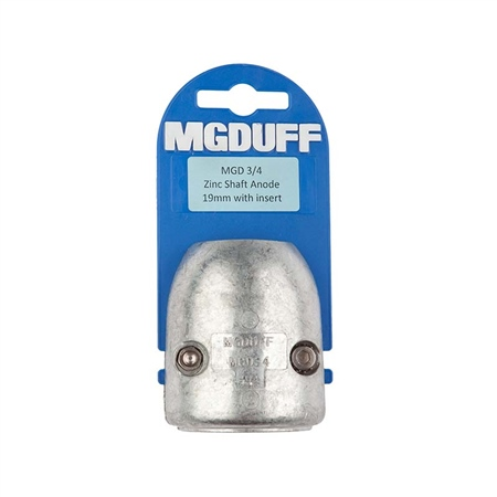 MG Duff Zinc Shaft Anodes With Inserts  - Click to view a larger image