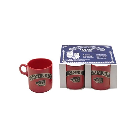 Nauticalia Plastic Mugs - Set of 4