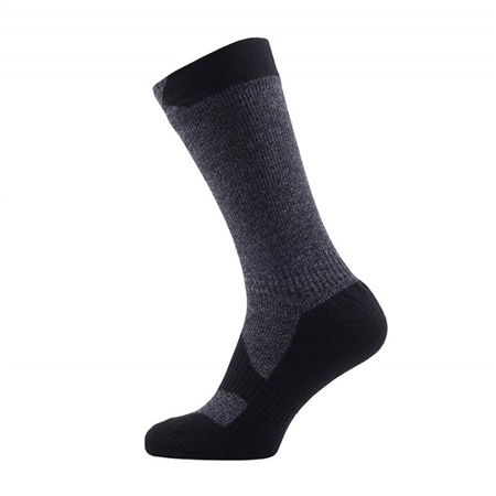 Sealskinz Walking Thin Mid Socks - Dark Grey/Marl (C1)  - Click to view a larger image
