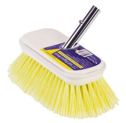 """Swobbit Deck Brush Soft Flagged 7½"""" Yellow (C1)  - Click to view a larger image"""