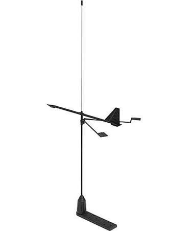 V-Tronix Stainless Steel Whip Antenna With Hawk Wind Indicator