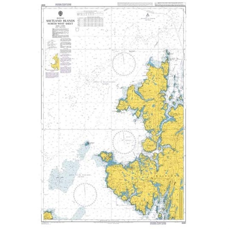 Admiralty Chart 3281 Shetland Islands North-West Sheet  - Click to view a larger image