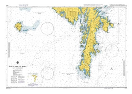 Admiralty Chart 3283 Shetland Islands South Sheet  - Click to view a larger image
