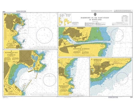 Admiralty Chart 1438 Harbours on the East Coast of Scotland  - Click to view a larger image