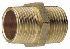 Gael Force Brass Equal Hex Nipple - Taper Male